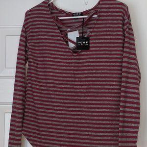 Long sleeved shirt blouse